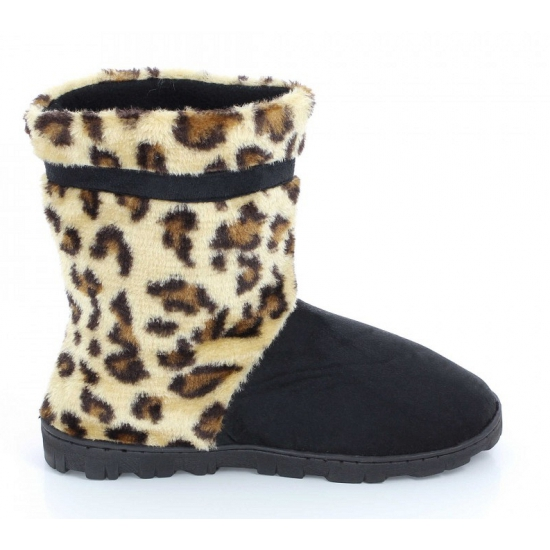 Pantoufles Baskets Femmes Leopard Brown 71IO3